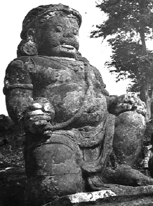 Ninth-century guardian statue