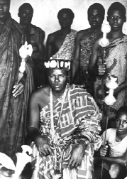 Akan chief in traditional attire